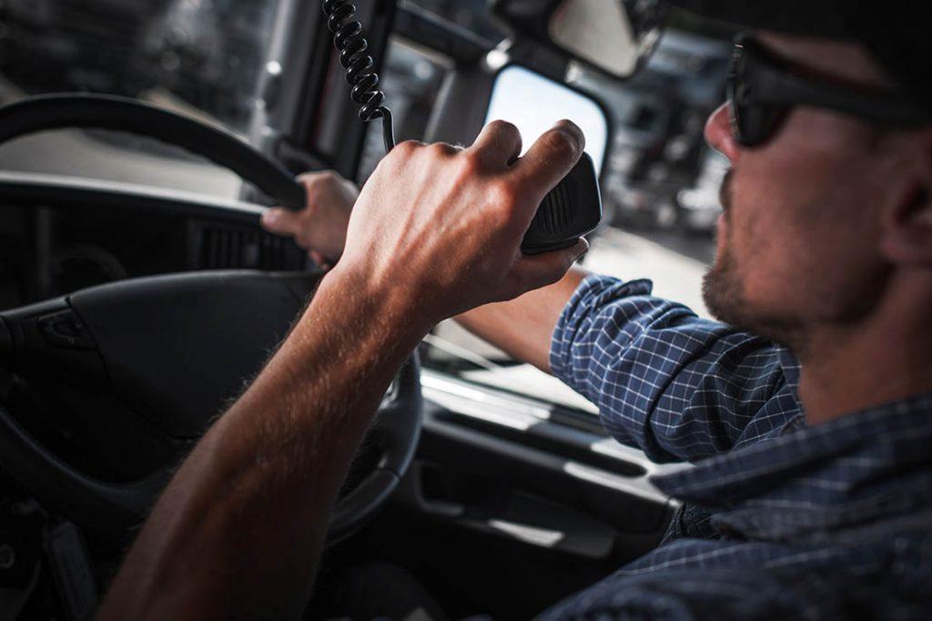 Mobile Radio Op in truck
