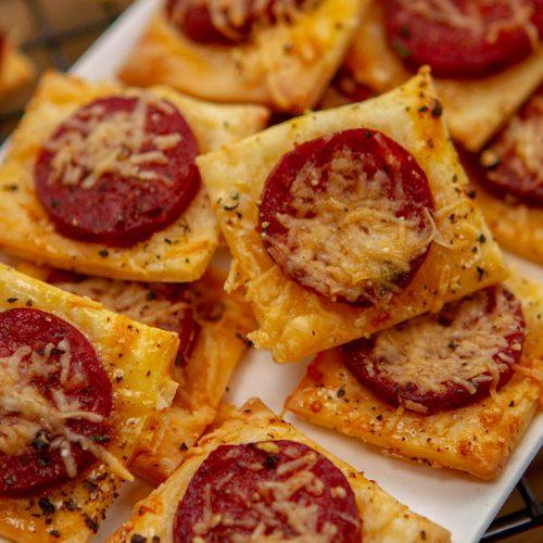 Image of Parmesan and chorizo nibbles