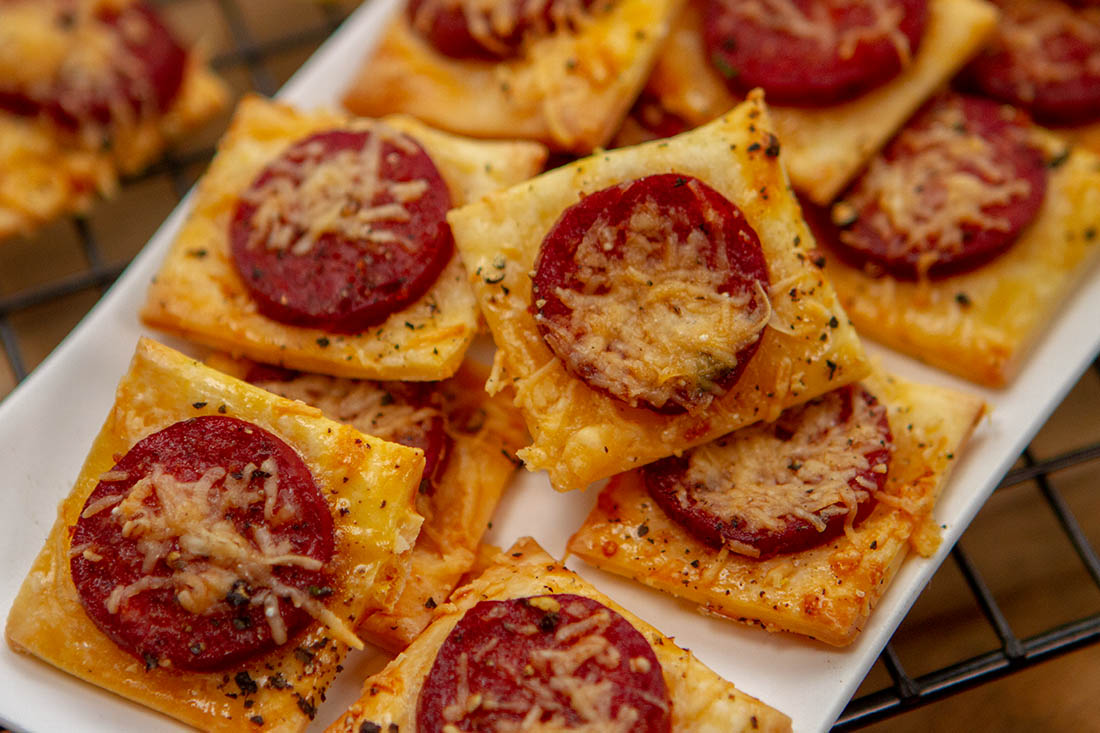 Parmesan and chorizo nibbles