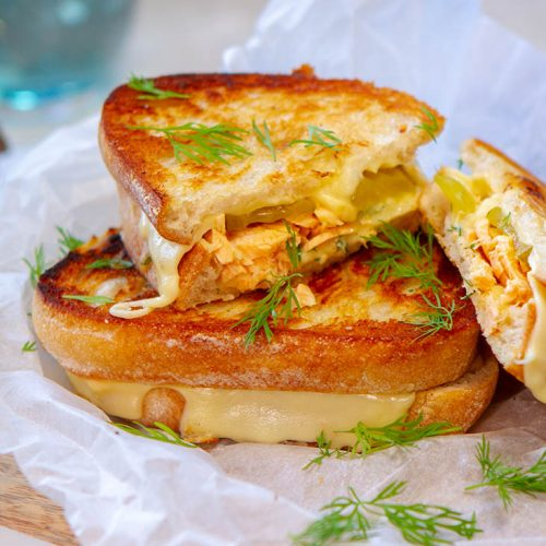 Picture of salmon pickle toastie