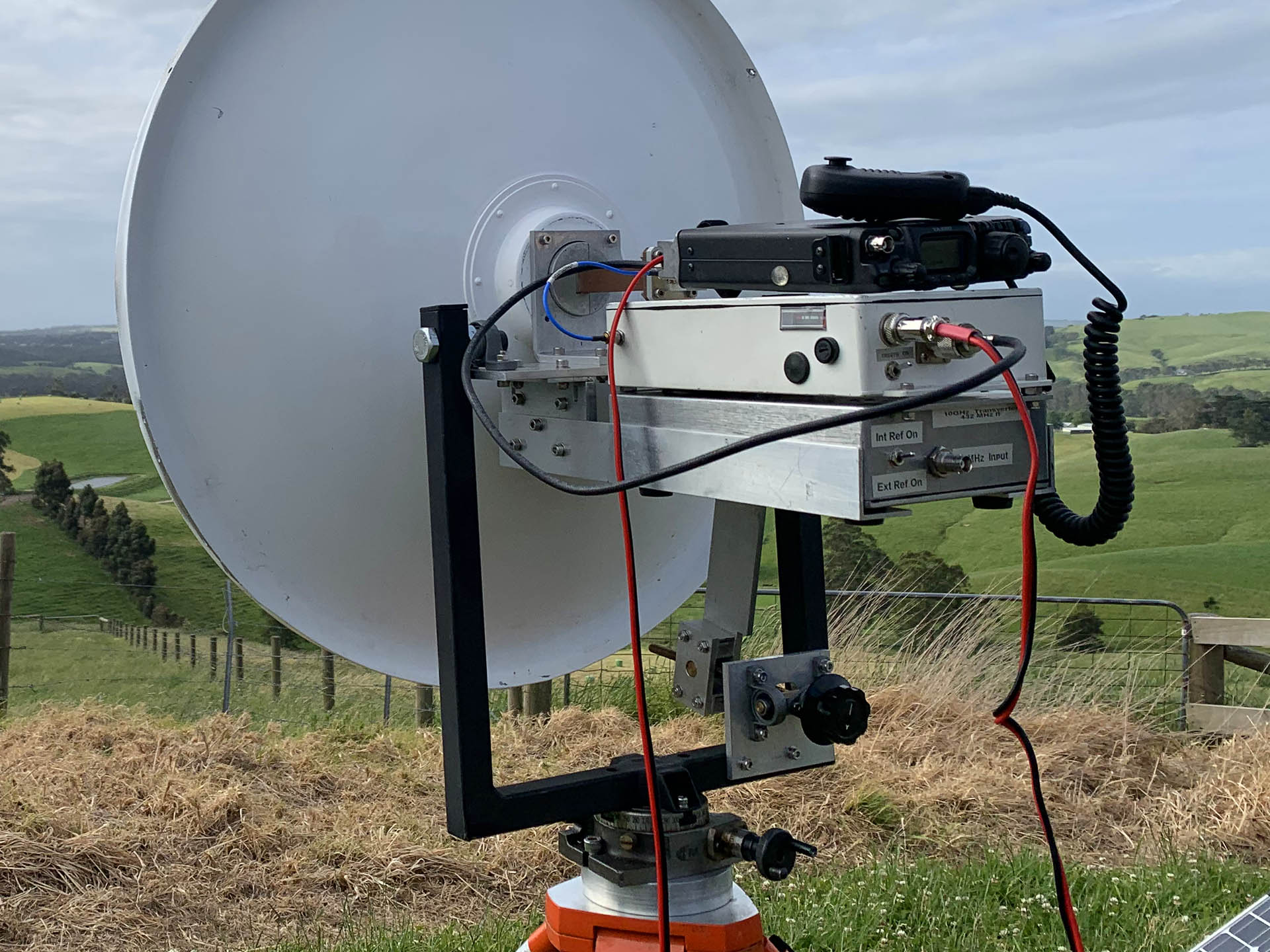 Photo of Peter VK3APW's 10 GHz transmitter for 10 GHz Amateur Radio
