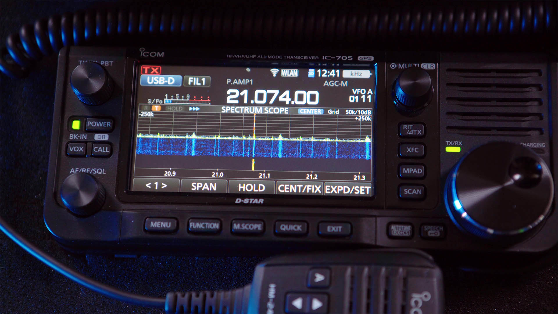 Picture of an Icom IC-705
