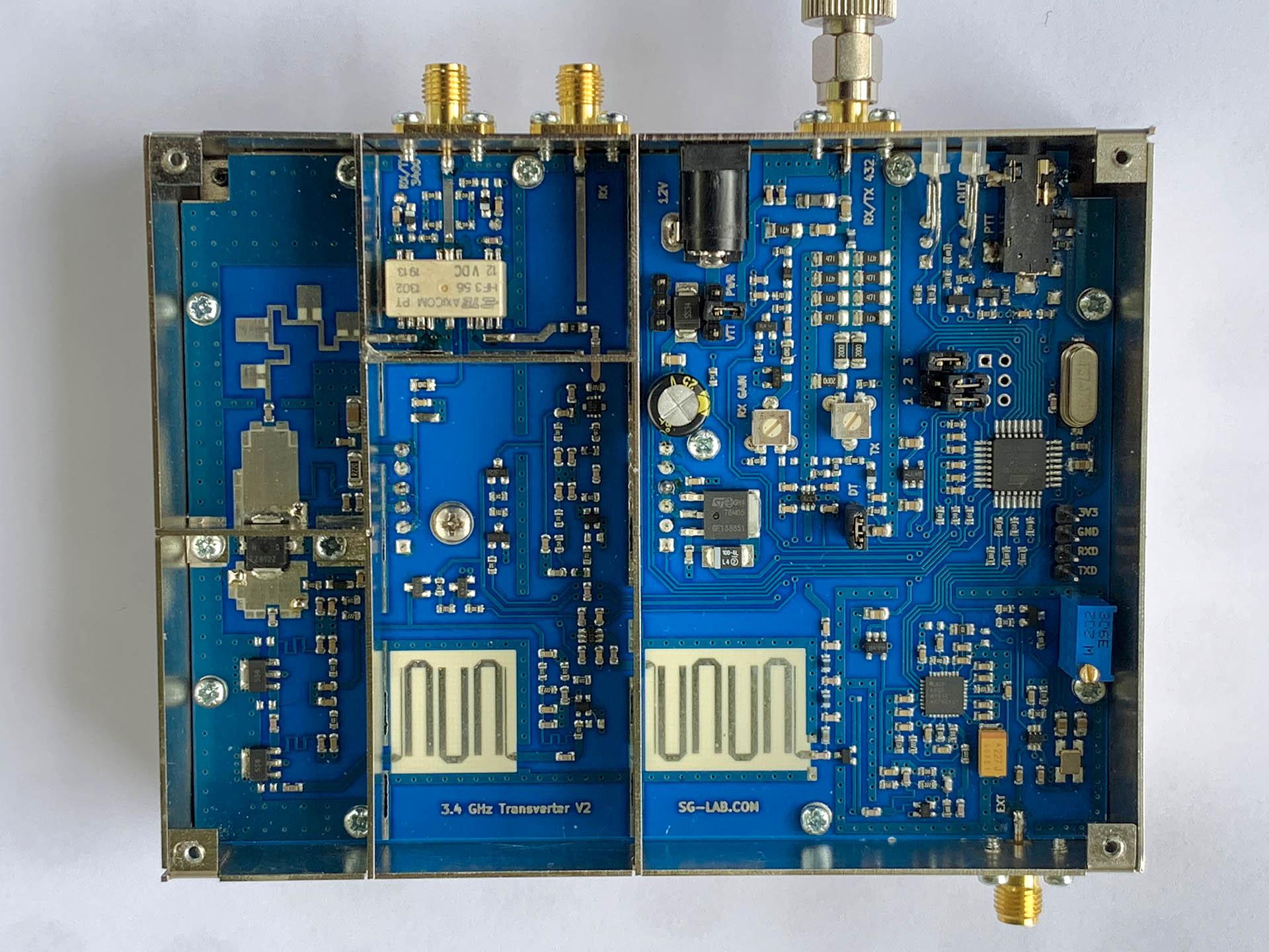 SG Lab 3400 MHz Transverter V2 top